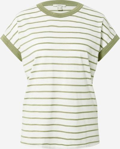 ESPRIT Tričko - khaki / bílá, Produkt
