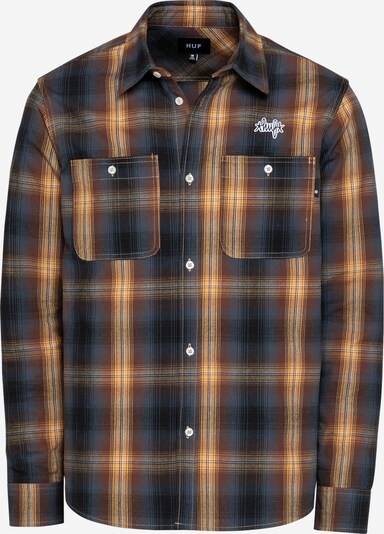 Camicia 'SANFORD' HUF di colore navy / blu colomba / marrone / giallo, Visualizzazione prodotti