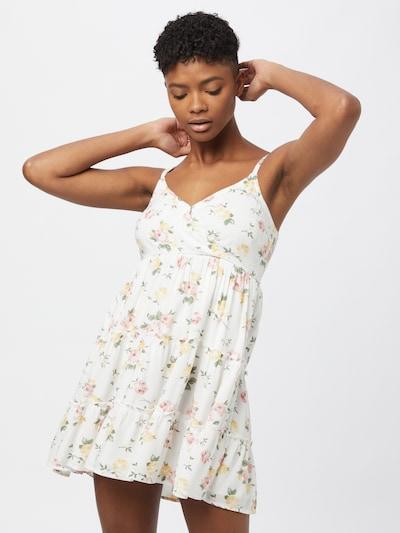 HOLLISTER Kleid in hellgrün / pastellorange / rosa / weiß, Modelansicht