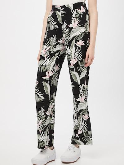 VERO MODA Broek 'Simply' in de kleur Pastelgroen / Rosa / Zwart / Wit, Modelweergave