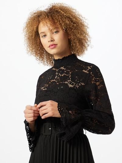 PIECES Blusenshirt in schwarz, Modelansicht