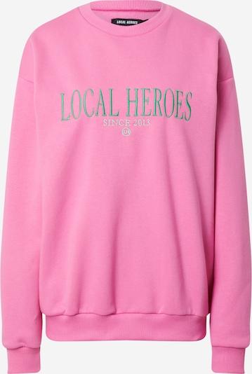 LOCAL HEROES Sweatshirt in Grey / Green / Pink, Item view