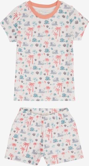 Sense Organics Pyjama 'JULA' en mélange de couleurs / blanc, Vue avec produit