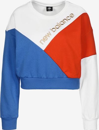 new balance Sweatshirt 'Olympia' in blau / gold / rot / weiß, Produktansicht