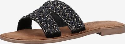 LAZAMANI Pantolette in braun / schwarz / silber, Produktansicht