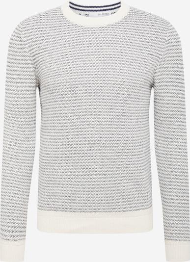 SELECTED HOMME Trui 'Wesley' in de kleur Grijs / Wit, Productweergave