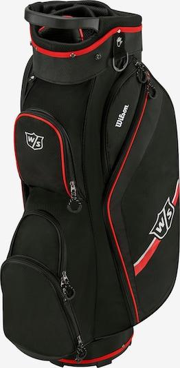 WILSON Sporttasche 'WS Lite Cart II' in rot / schwarz / weiß, Produktansicht