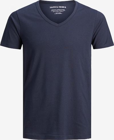 JACK & JONES T-Shirt 'BASIC V-NECK TEE S/S NOOS' in navy, Produktansicht