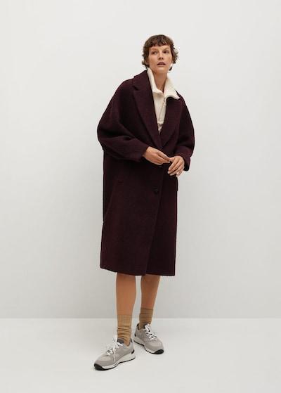 MANGO Manteau mi-saison 'Fruita' en rouge rubis, Vue avec modèle