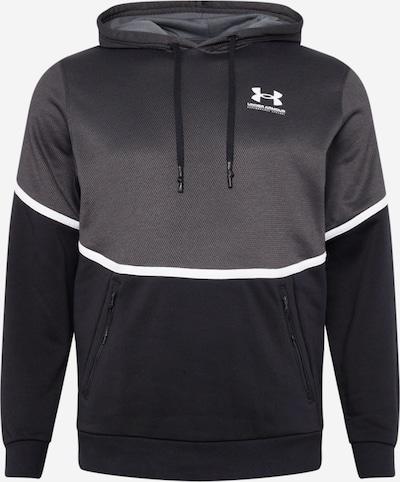 UNDER ARMOUR Sportsweatshirt 'Rival' i grå / sort / hvid, Produktvisning
