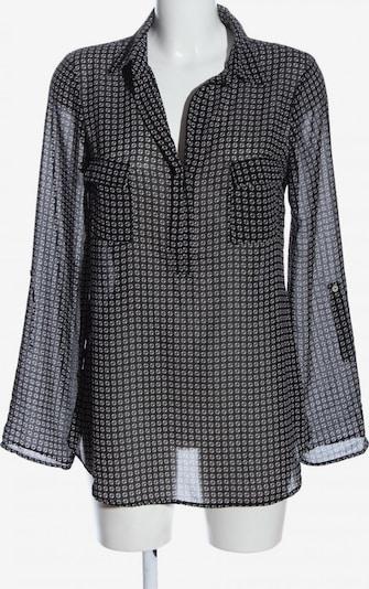 Max Studio Hemd-Bluse in M in hellgrau / schwarz / weiß, Produktansicht