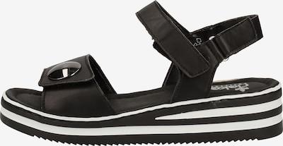 Sandale RIEKER pe negru, Vizualizare produs