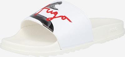 HUGO Mule en rouge / noir / blanc, Vue avec produit
