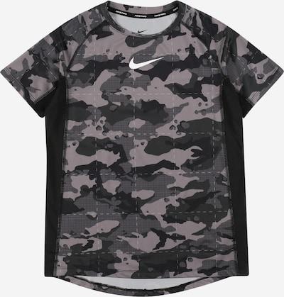 NIKE Functioneel shirt in de kleur Grijs / Donkergrijs / Zwart, Productweergave