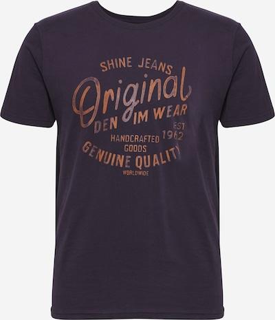 SHINE ORIGINAL Skjorte i marin / mørkeorange: Frontvisning
