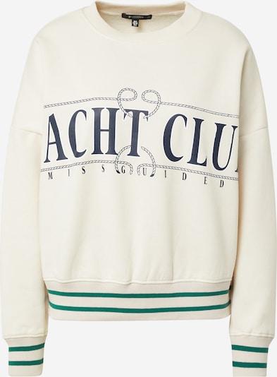 Missguided Sweatshirt in navy / grün / pastellpink, Produktansicht