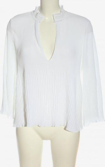 ZARA Langarm-Bluse in S in weiß, Produktansicht