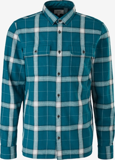 Q/S by s.Oliver Button Up Shirt in Ecru / Emerald, Item view