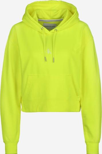 Calvin Klein Majica | neonsko rumena / bela barva, Prikaz izdelka