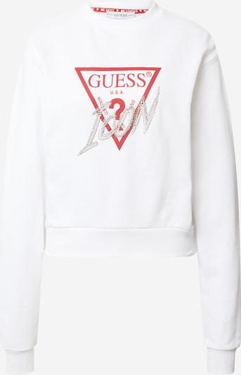 Tricou GUESS pe alb, Vizualizare produs