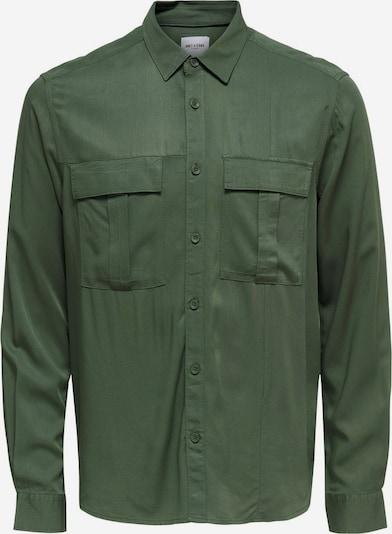 Only & Sons Hemd in dunkelgrün, Produktansicht