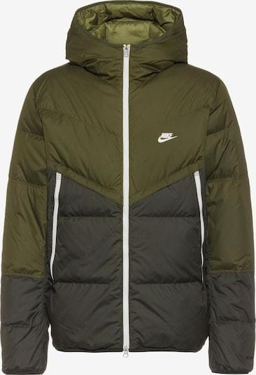 Nike Sportswear Jacke in khaki / dunkelgrün / weiß, Produktansicht