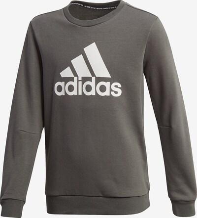 ADIDAS PERFORMANCE Sportsweatshirt in grau / weiß, Produktansicht