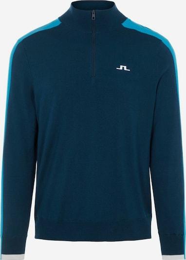 J.Lindeberg Pull-over de sport 'Avi' en aqua / bleu pastel, Vue avec produit